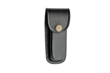 4″ BLACK PLAIN LEATHER SHEATH