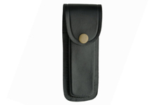 5″ BLACK PLAIN LEATHER SHEATH