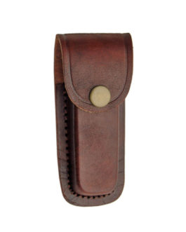 4″ BROWN PLAIN LEATHER SHEATH