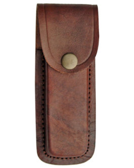 5″ BROWN PLAIN LEATHER SHEATH