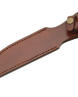 10″ BROWN LEATHER SHEATH