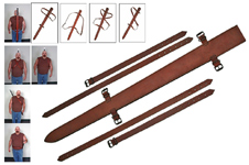 UP TO 38″ BLADE, TOP GRAIN LEATHER SWORD SHEATH