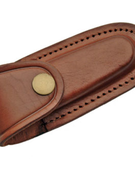4″ BROWN LEATHER SHEATH
