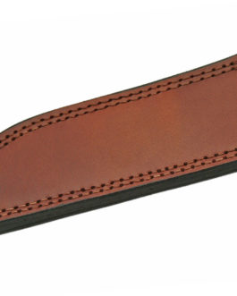8.25″ DROP POINT BROWN LEATHER SHEATH