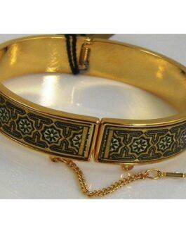 Damascene Gold Star Bracelet by Midas of Toledo Spain style 805002