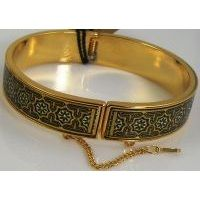 Damascene Gold Star Bracelet by Midas of Toledo Spain style 805002