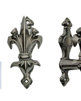 3″ FLEUR PEWTER FINISH ADJUSTABLE SWORD HANGER
