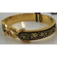 Damascene Gold Bird Bracelet by Midas of Toledo Spain style 805005