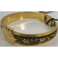 Damascene Gold Bird Bracelet by Midas of Toledo Spain style 2077
