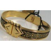 Damascene Gold Star of David Bracelet by Midas of Toledo Spain style 2077