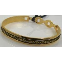Damascene Gold Geometric Bracelet by Midas of Toledo Spain style 2079