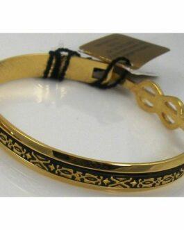 Damascene Gold Geometric Bracelet by Midas of Toledo Spain style 2081