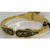 Damascene Gold Bird Bracelet by Midas of Toledo Spain style 2083