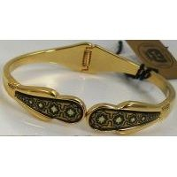 Damascene Gold Star Bracelet by Midas of Toledo Spain style 2083