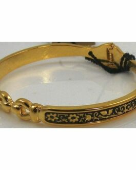Damascene Gold Flower Bracelet by Midas of Toledo Spain style 805017