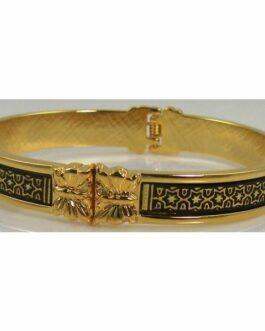 Damascene Gold Geometric Bracelet by Midas of Toledo Spain style 805021