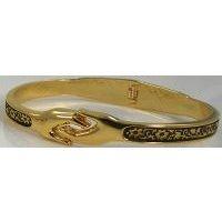 Damascene Gold Flower Bracelet by Midas of Toledo Spain style 805022