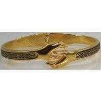 Damascene Gold Geometric Bracelet by Midas of Toledo Spain style 805022