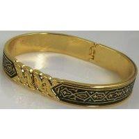 Damascene Gold Geometric Bracelet by Midas of Toledo Spain style 805023