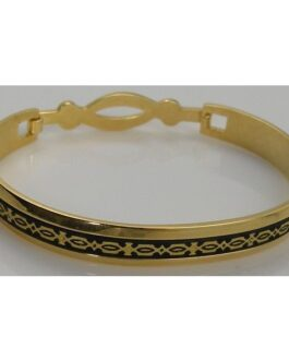 Damascene Gold Geometric Bracelet by Midas of Toledo Spain style 805024