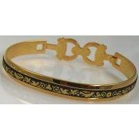 Damascene Gold Bird Bracelet by Midas of Toledo Spain style 2094