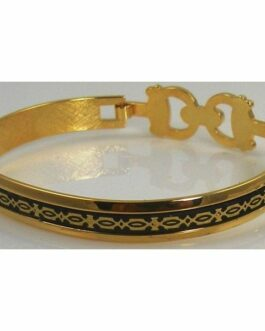 Damascene Gold Geometric Bracelet by Midas of Toledo Spain style 2094