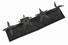 4PC THROWING STARS BLK