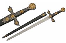 33″ KNIGHTS TEMPLAR SWORD (GOLD)