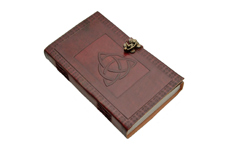 5″x9″ CELTIC TRIQUETRA LEATHER JOURNAL WITH LOCK