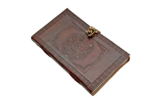 5″x9″ CELTIC CIRCLE LEATHER JOURNAL WITH LOCK