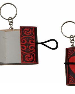 1.5″ x 2″ RED HEART KEYCHAIN JOURNAL