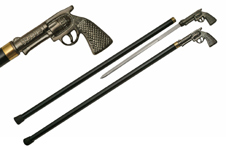 36″ PISTOL SWORD CANE