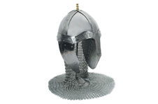 MEDIEVAL HELMET WITH CHAINMAIL