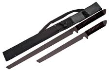 BLACK 2 PCS NINJA SWORD SET