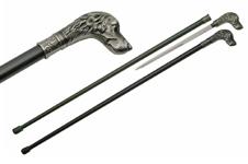 37″ DOG WALKING SWORD CANE