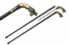 34″ DRAGON WALKINGSWORD CANE