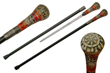 35.5″ FLAME PIRATE CANE SWORD
