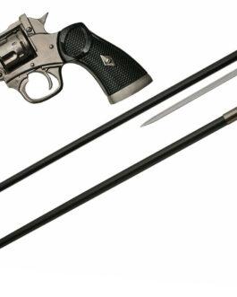 38″  GUN WALKING CANE SWORD