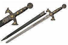 34′ KNIGHTS TEMPLAR SWORD (ROSE GOLD)