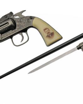 37″ DOC HOLLIDAY REVOLVER SWORD CANE