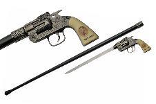 37″ JESSE JAMES REVOLVER SWORD CANE
