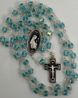Damascene Silver Jesus Rosary Beads by Midas of Toledo Spain style 9601-1