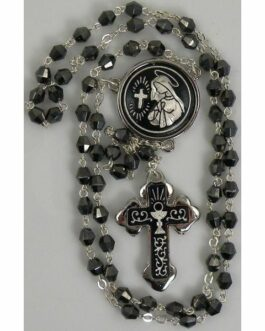 Damascene Silver Chalice Rosary Beads by Midas of Toledo Spain style 9602-1
