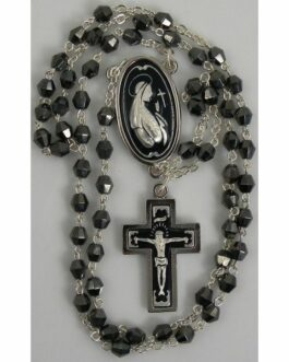 Damascene Silver Jesus Rosary Beads by Midas of Toledo Spain style 9602