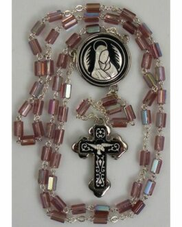 Damascene Silver Dove Rosary Beads by Midas of Toledo Spain style 9603-1