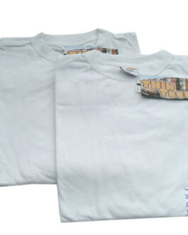 2XL WHITE COTTON T-SHIRT
