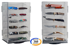 ROTATING ACRYLIC KNIFE DISPLAY
