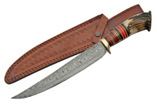 UPSWEEP CROWN 15.5″ DAMASCUS BOWIE