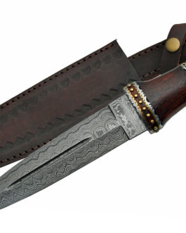 14″ DAMASCUS DIRK WITH WOOD HANDLE