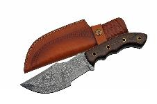 10″  DAMASCUS TRACKER BROWN MICARTA HANDLE
